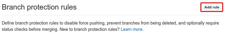"""Screenshot of """"add rule"""""""
